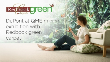 DuPont® at QME mining exhibition with Redbook green® carpet