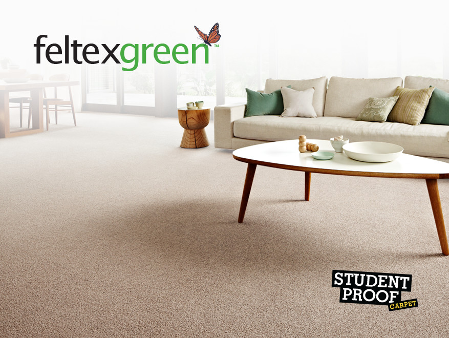 Soft and Stylish Feltex Green Carpets