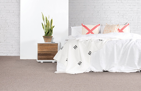 Bring warm earthy tones to your bedroom with Skyway in Basalt