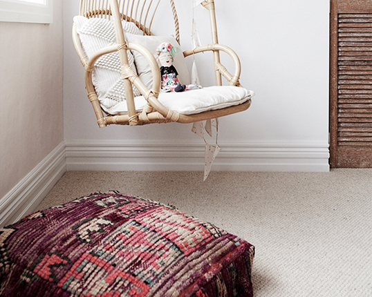 The carpet was used in both children's bedrooms and the master bedroom